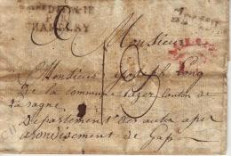 Savoie - Cachet D´entrée En France - Royaume D´italie Par Chambery N - 1809 - Marcophilie (Lettres)