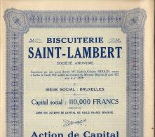 Biscuiterie Saint Lambert Bruxelles - Industrie