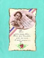 Guerre 14 /18  Papa Patriotique Enfant écrit  Lettre - Guerre 1914-18