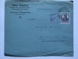 GERMANY 1919 COVER SAARBRUCKEN TO FRANKFURT - Germany