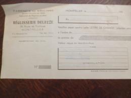 Reçu Publicitaire Réglisserie Deleuze Montpellier. Règlisse. Banque De France. 1950. - Alimentaire