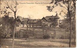 Villa Parmentier Avenue De Tervueren Duitse Postzegel Stempel Woluwe St Lambert - Oorlog 14-18