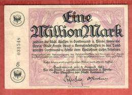 Billet Nécessité, émission Locale, Allemagne, Dortmund Horde 1923 - [11] Local Banknote Issues