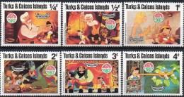 Mickymaus Friends Christmas 1980 Turks-/Caicos Inseln 503-8 ** 4€ Walt Disney Figur Filmbilder Comic Micky-mouse Caribic - Turks & Caicos (I. Turques Et Caïques)