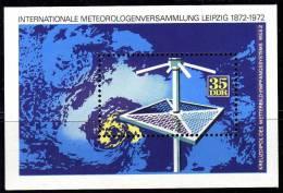 Meteorologie-Forschung DDR Block 34 Bis 36 ** 3€ Wetterkarte Wolkenbild Wetter-Satellit M/s Blocs Space Sheet Of Germany - Climate & Meteorology