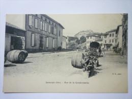 SAMATAN  (Gers)  :  Rue De La  GENDARMERIE  - Sonstige Gemeinden