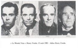CPSM LE MONDE VECU HENRY FONDA 12 AOUT 1982 ADIEU - Funérailles