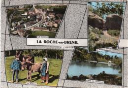 Cpm LEXY, Côte D'or, LA ROCHE EN BRENIL, Multivues, Aérienne, Porron-merger, étang De Tournesac (21.3) - France