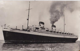 SUPERTRANSATLANTICO REX VG 1932 AUTENTICO 100% - Barche