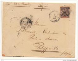 RARE Lettre Avec 25c Noir Sur Rose Golfe De Bénin Seul Sur Lettre Cote Dallay 235€ En 2005 - Benin (1892-1894)