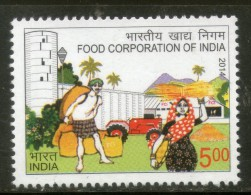 India 2014 Food Corporation Of India Agriculture 1v MNH Inde Indien - Agriculture