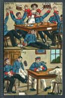 1915 Konigsbruck Ubungsplatz  Künstlerkarte Humor Verlag Vitus Noever Dresden Reserve Bier Beer Postcard - Humor