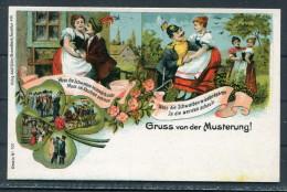 Gruss Von Der Musterung Adolf Zoller Postcard - Humour