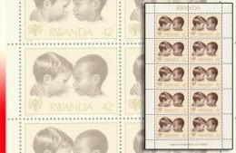 Rwanda 0935** Y&T 894 - 42F Enfants - MNH - Sheet / Bloc de 10