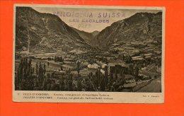 Vallées D'ANDORRE - Encamp , Vue Générale -  Au Fond Radio Andorre (pliée ) - Andorra