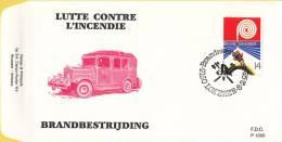 België - FDC 1005 - 8 Februari 1992 - Brandbestrijding - OBP 2443 - FDC