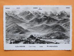 Cp ,Hautes Pyrénnées(65)Lourdes Et La Chaine Des Pyrénées... - Lourdes