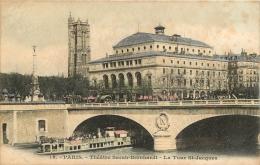 PARIS THEATRE SARAH BERNHARDT LA TOUR SAINT JACQUES - Zonder Classificatie