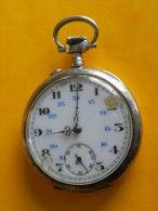 Montre A Gousset En Argent Et Vermeil - 47 Mm - 68,64 Grs- Fonctionne - Relojes De Bolsillo