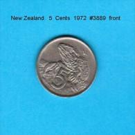 NEW ZEALAND    5  CENTS  1972   (KM # 34) - New Zealand