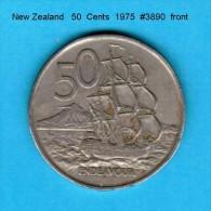 NEW ZEALAND    50  CENTS  1975   (KM # 37) - New Zealand