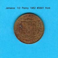 JAMAICA    1/2  PENNY  1962   (KM # 36) - Jamaica