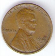 STATI UNITI ONE CENT 1947 - 1909-1958: Lincoln, Wheat Ears Reverse