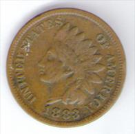 U.S.A. - STATI UNITI D' AMERICA - ONE CENT ( 1883 ) - INDIAN HEAD - 1859-1909: Indian Head