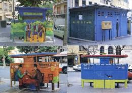 Lyon Croix Rousse - Mignot - Vespasiennes Décorées - Lot De 4 Cartes Modernes - Autres