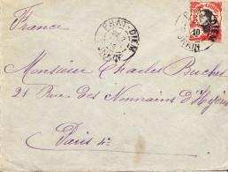 Indochine  Lettre Phai-Diem En 1910 - Indochina (1889-1945)