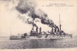 22463  Marine Militaire Française, Le Cuirassé à Turbines DIDEROT, 237 Marius Bar Toulon - Guerre