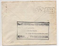 1931 - CACHET PUBLICITAIRE Au Dos D´une ENVELOPPE COMMERCIALE De LILLE (NORD) Pour DENAIN - PUB - Advertising