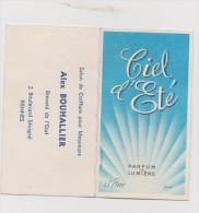 Calendrier Parfumé CIEL D'ETE PIVER Année 1965 - Petit Format : 1961-70