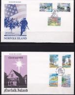 NORFOLK ISLAND 1992 Lot 3 FDC - Ile Norfolk