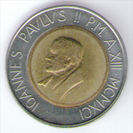 VATICANO 500 LIRE 1991 BIMETALLICA - Vaticano