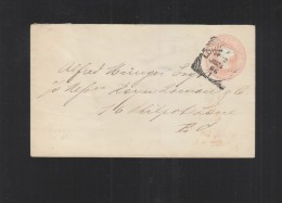UK Stationery Cover 1886 London 135x80 Mm - Stamped Stationery, Airletters & Aerogrammes