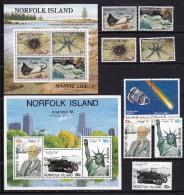 NORFOLK ISLAND 1986 Jahrgang ** Postfrisch - Ile Norfolk