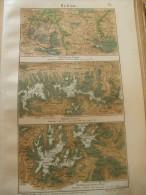 Map -THE ALPS - Austria - Salzburg - Hohen Tauern - Ötzaler Alpen 1906-Hungary Old Litho Map-1.NMA1906.81 - Cartes Géographiques