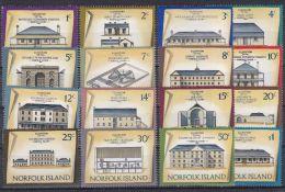 NORFOLK ISLAND 1973 Satz Gebäude Mi.#136-150 ** Postfrisch - Ile Norfolk