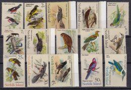 NORFOLK ISLAND 1970 Satz Vögel Mi.#105-119 ** Postfrisch - Ile Norfolk