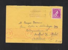 Brief Antwerpen Nach Deutschland Zensur - Belgien