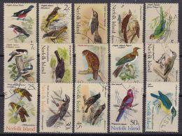 NORFOLK ISLAND 1970 Satz Vögel Mi.#105-119 Gestempelt - Ile Norfolk