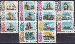 NORFOLK ISLAND 1967 Satz Schiffe Mi.# 79-92 ** Postfrisch - Ile Norfolk