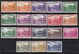 NORFOLK ISLAND 1947 Satz Mit Weissem Papier ** Postfrisch - Ile Norfolk