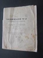 MILITARIA:modificatif N°2 à L´instruction Provisoire Pour Le Soldat Et Combattant Fév 1946 Faire Défiler Images 40 Pages - Documents