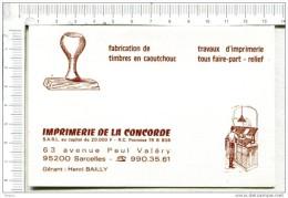 L317 - PUBLICITE :   IMPRIMERIE De La CONCORDE -  SARCELLES  -  95200  -  Intérieur  Calendrier  1984 - Plaques Publicitaires