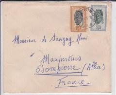 CONGO BELGE - 1952 - LETTRE De MANONO Pour DOMPIERRE - 1947-60: Cartas