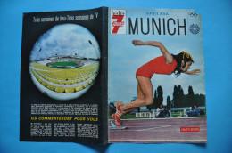 SUPPLEMENT TELE 7 JOURS - JEUX OLYMPIQUES MUNICH 1972 - COLETTE BESSON - Olympische Spiele