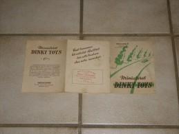Petit Livre Miniatures Dinky Toys Mecano  An 1952 Ancien - Publicidad
