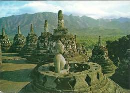 Indonesia  -  Open Stupa With A Budha Inside     B-2904 - Indonesia